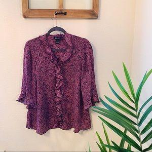 Lane Bryant silk blouse